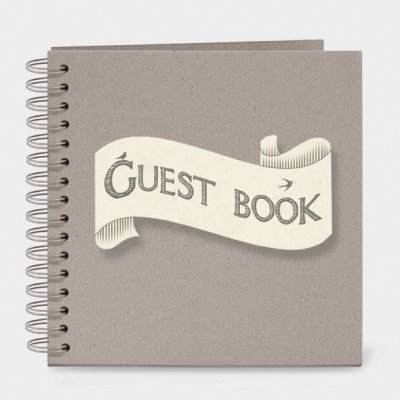 Ribbon book-Guest book