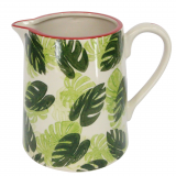 Cheese Plant Leaf Ceramic Jug