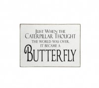 Wooden Block Sign ... Butterfly