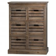 Distressed Pine Six Drawer Chest