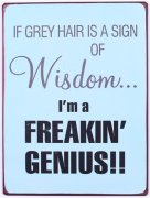 Metal Sign - If grey hair is a sign