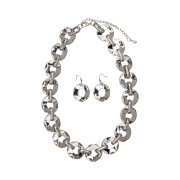 Necklace - Rhodium Silver with earrings
