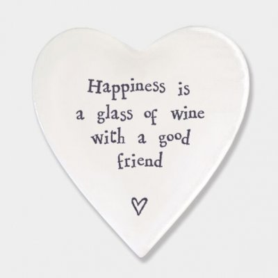 Porcelain Coaster - Happiness Is A Glass Of Wine
