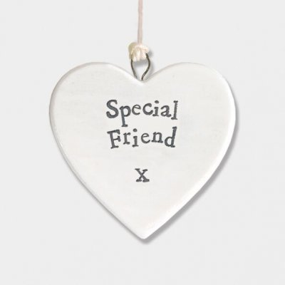 Small Porcelain Round Heart - Special Friend
