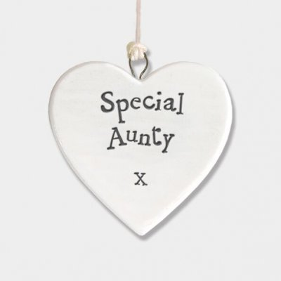 Small Porcelain Round Heart - Special Aunty