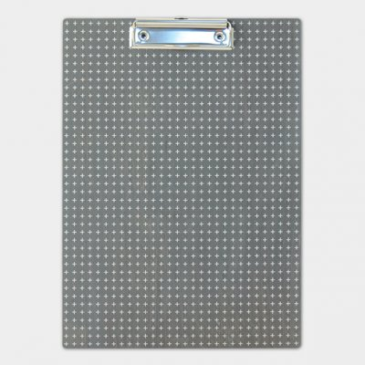 Clipboard - Grey geometric