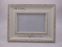 White Mr & Mrs Distressed Frame