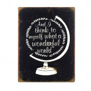 Metal Sign 'what A Wonderful World'