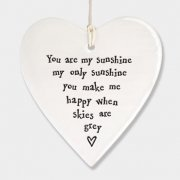 Porcelain Round Heart You are My Sunshine