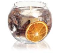 Natural Wax Fishbowl, Cinnamon & Orange