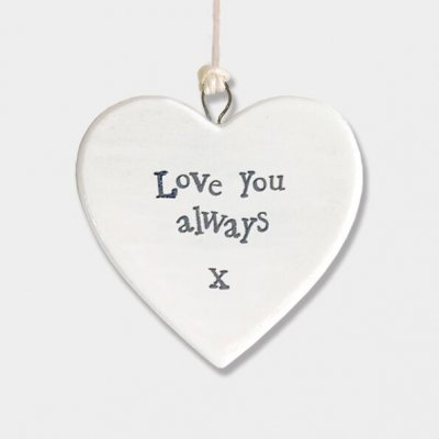 Small Porcelain Round Heart - Love you always