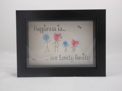 Photo Frame Button Family Black