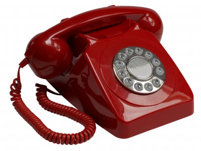 Push Button Telephone - Red