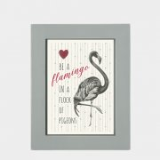 A6 Animal pic - Flamingo
