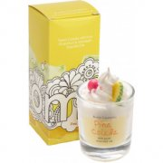 Piped Glass Candle - Pina Colada