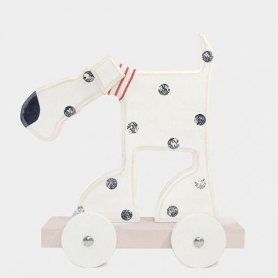 Wooden Dog Oscar on Wheels