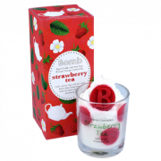Piped Glass Candle - Starwberry Tea