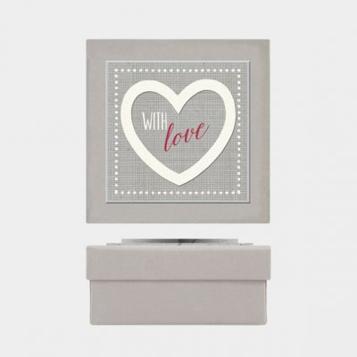 Heart gift box-With love