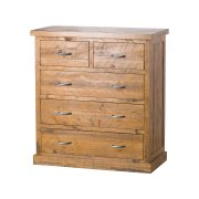 Rustic Two Over Three Chest Of Drawers