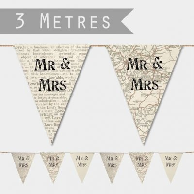 Paper Bunting - Mr & Mrs