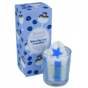 Piped Glass Candle - Blueberry Sundae
