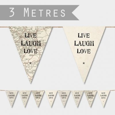 Paper Bunting - Live, Laugh, Love