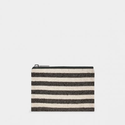 Purse-Wide black stripes