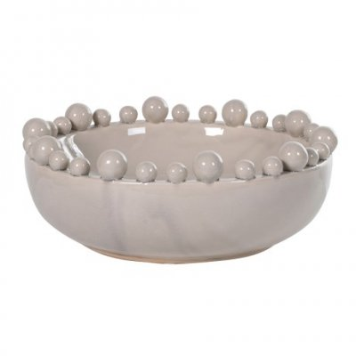 Bowl with Balls on Rim - Cream