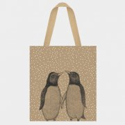 Jute shopping bag - Penguins