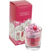 Piped Glass Candle - Redcurrant & Cassis