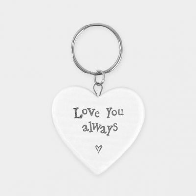 Porcelain Keyring - Love you always