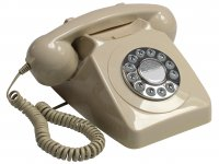 Push Button Telephone - Ivory