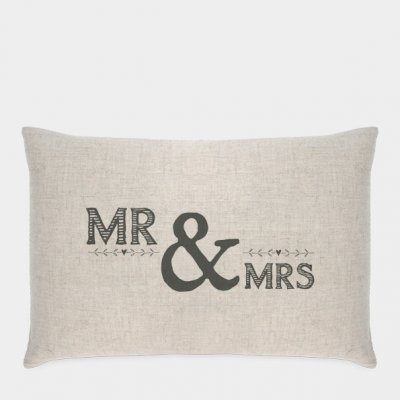 Long cushion-Mr and Mrs