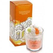Piped Glass Candle - Peach Bellini