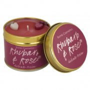 Tin Candle - Rhubarb & Rose