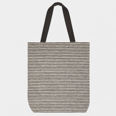 Shopping bag-Thin black stripes