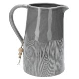 Grey Ceramic Wood Effect Jug