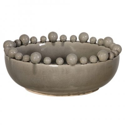 Bowl with Balls on Rim - Grey