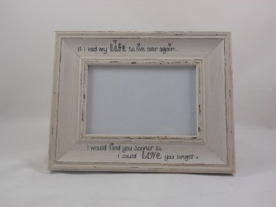 Personalised Distressed Photo Frame - Grey