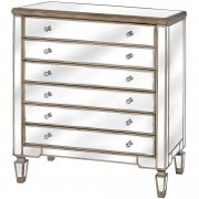 Mirrored Six Drawer Chest