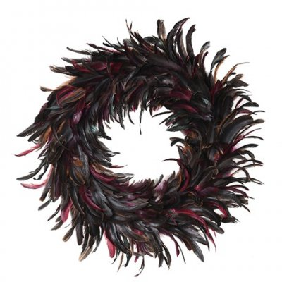 Coloured Feather Wreath