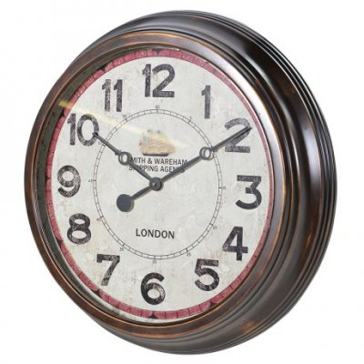 Distressed Metal Round Wall Clock