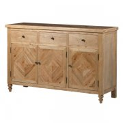 Oak 3 Door Sideboard