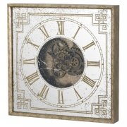 Mirrored Square Clock With Moving Mechanism