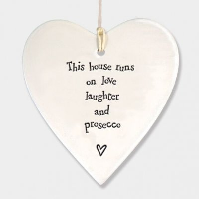 Porcelain Round Heart This House Runs