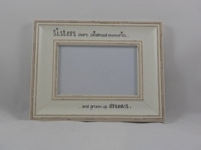 Personalised Distressed Photo Frame - White