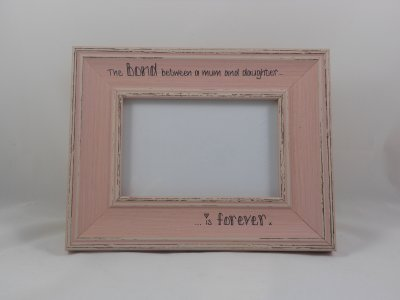 Personalised Distressed Photo Frame - Pink