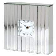 Silver Mirror Mantel Clock