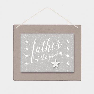 Wooden Sign - Father of the Groom