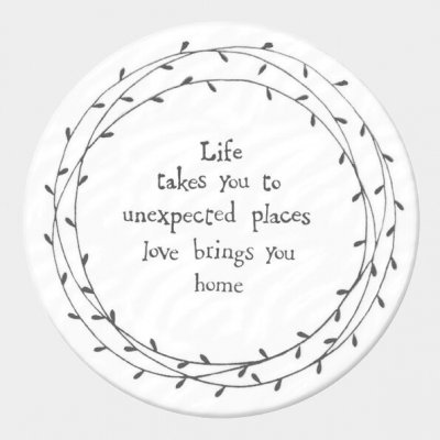 Round Porcelain Coaster - Life Takes You to